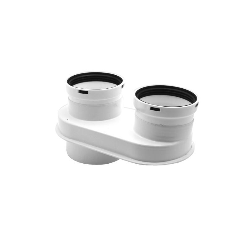 Baxi 7102689 Scarico Fumi sdoppiato da 80/125 a 80/80 Condensazione