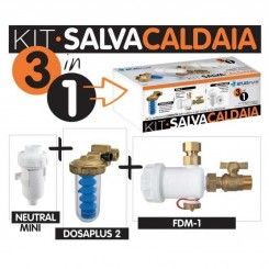 ATLAS Kit Filtri Salva Caldaia 3 in 1 - Dosatore di Polifosfato Anticalcare - Defangatore Magnetico - Neutralizzatore Condensa