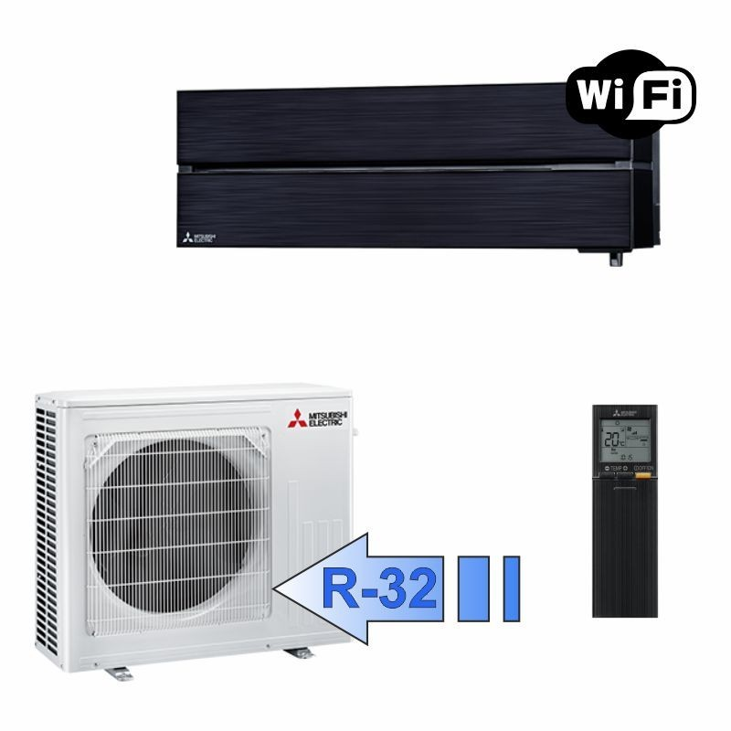 Mitsubishi MSZ-LN50VGB MUZ-LN50VG Climatizzatore Mono Split Parete Serie Kirigamine Style Nero WiFi BTU 18000 R-32