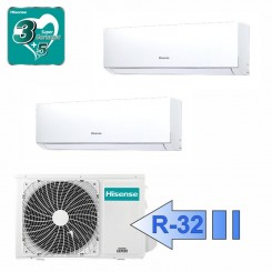 Hisense DJ25VE00G DJ25VE00G 2AMW50U4RXA Climatizzatore Dual Split Parete Serie New Comfort BTU 9000+9000 R-32