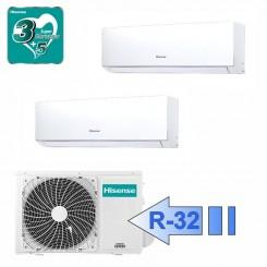 Hisense DJ25VE00G DJ35VE00G 2AMW50U4RXA Climatizzatore Dual Split Parete Serie New Comfort BTU 9000+12000 R-32