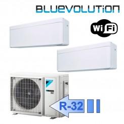 Daikin FTXA20AW FTXA25AW 2MXM40M Climatizzatore Dual Split Parete Serie STYLISH Bianco WiFi BTU 7000+9000 R-32