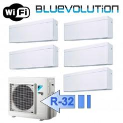 Daikin 3x FTXA20AW 2x FTXA25AW 5MXM90M/N Climatizzatore Penta Split Serie STYLISH Bianco WiFi BTU 7+7+7+9+9 R-32