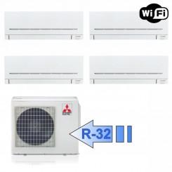Mitsubishi 3x MSZ-AP25VG MSZ-AP42VG MXZ-4F72VF Climatizzatore Quadri Split Parete Serie Plus MSZ-AP BTU 9+9+9+15 R-32