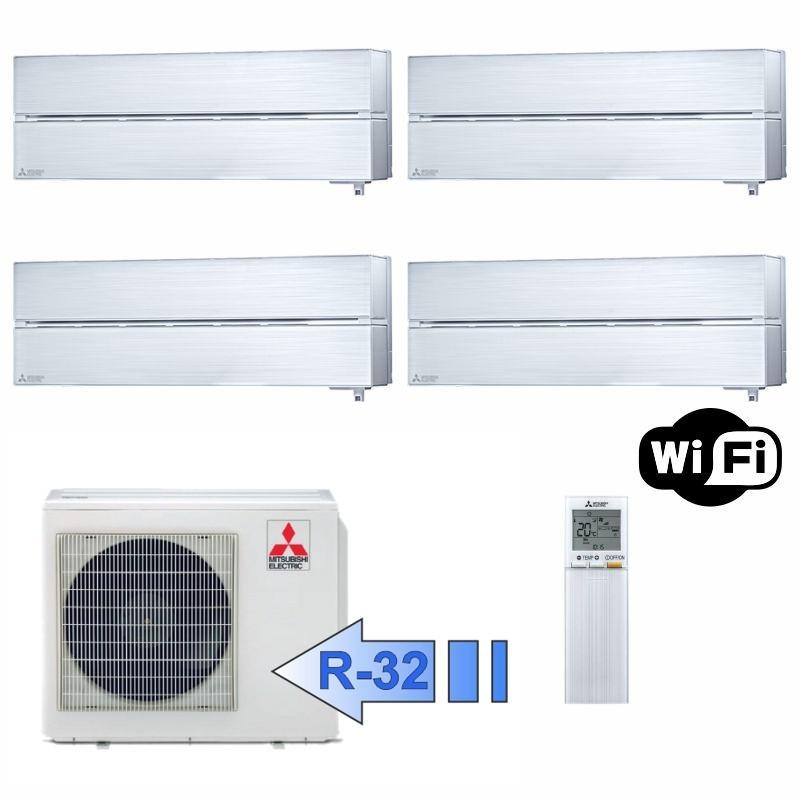 Mitsubishi 2x MSZ-LN25VGV 2x MSZ-LN35VGV MXZ-4F72VF Climatizzatore Quadri Kirigamine Style Bianco WiFi BTU 9+9+12+12 R-32