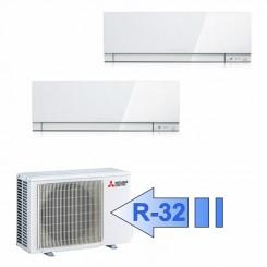 Mitsubishi MSZ-EF25VGW MSZ-EF35VGW MXZ-2F42VF Climatizzatore Dual Split Parete Kirigamine ZEN Bianco BTU 9000+12000 R-32