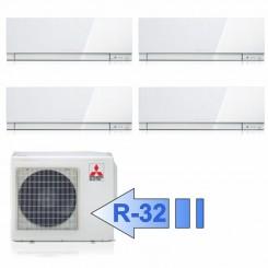 Mitsubishi 3x MSZ-EF25VGW MSZ-EF50VGW MXZ-4F72VF Climatizzatore Quadri Split Kirigamine ZEN Bianco BTU 9+9+9+18 R-32