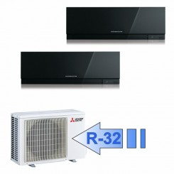 Mitsubishi MSZ-EF25VGB MSZ-EF25VGB MXZ-2F42VF Climatizzatore Dual Split Parete Kirigamine ZEN Nero BTU 9000+9000 R-32