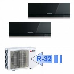 Mitsubishi MSZ-EF25VGB MSZ-EF25VGB MXZ-2F53VF Climatizzatore Dual Split Parete Kirigamine ZEN Nero BTU 9000+9000 R-32