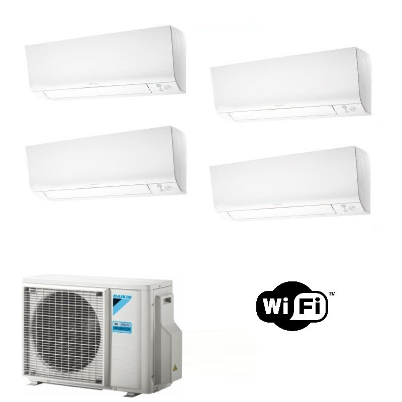 Daikin Condizionatore 2 x FTXM20N 2 x FTXM25N 4MXM68N QUADRI Split Perfera R-32 Bluevolution 7+7+9+9 WiFi