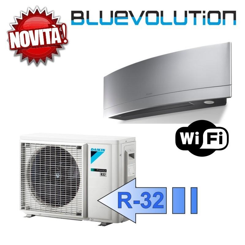 Daikin FTXJ50MS RXJ50M Climatizzatore Mono Split Parete Emura Argento WIFI Bluevolution 18000 Btu R-32