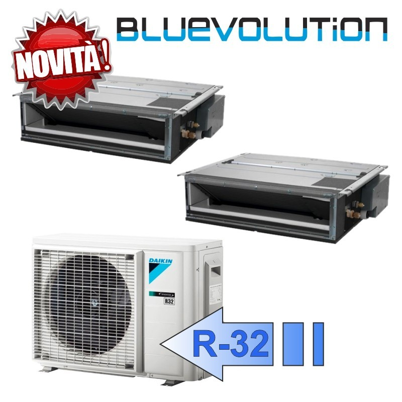 Daikin FDXM25F3 FDXM25F3 2MXM50M Climatizzatore Dual Split Canalizzabile FDXM-F Bluevolution 9+9 Btu R-32