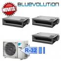 Daikin FDXM25F3 FDXM25F3 FDXM35F3 3MXM68M Climatizzatore Trial Split Canalizzabile FDXM-F Bluevolution 9+9+12 Btu R-32
