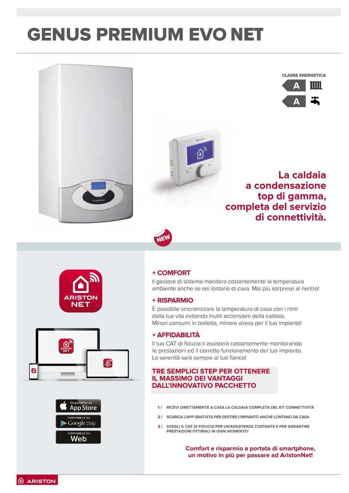 Caldaia Ariston Genius Premium Evo NET erp