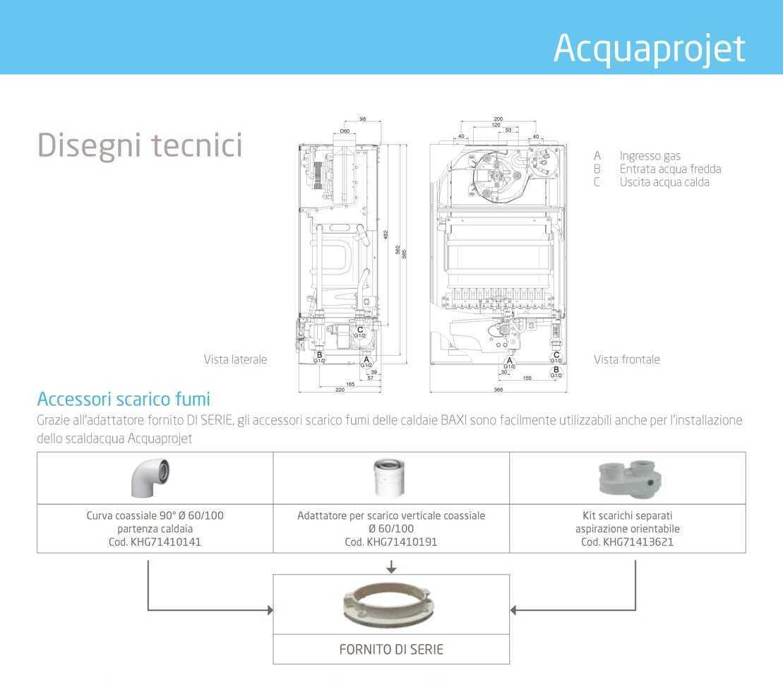 Scaldabagno BAXI Acquaprojet 11Fi