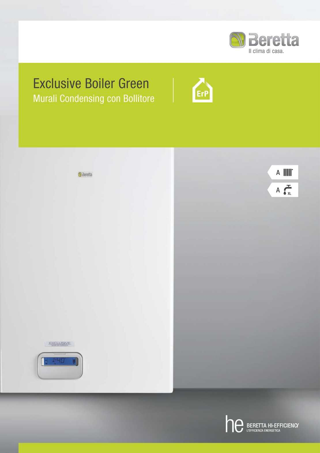 Caldaia Beretta Exclusive Boiler Green HE erp