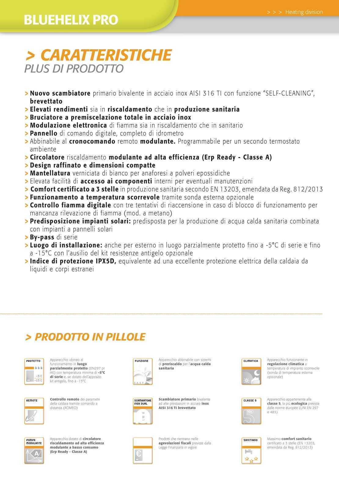 Caldaia Ferroli Bluehelix Pro erp