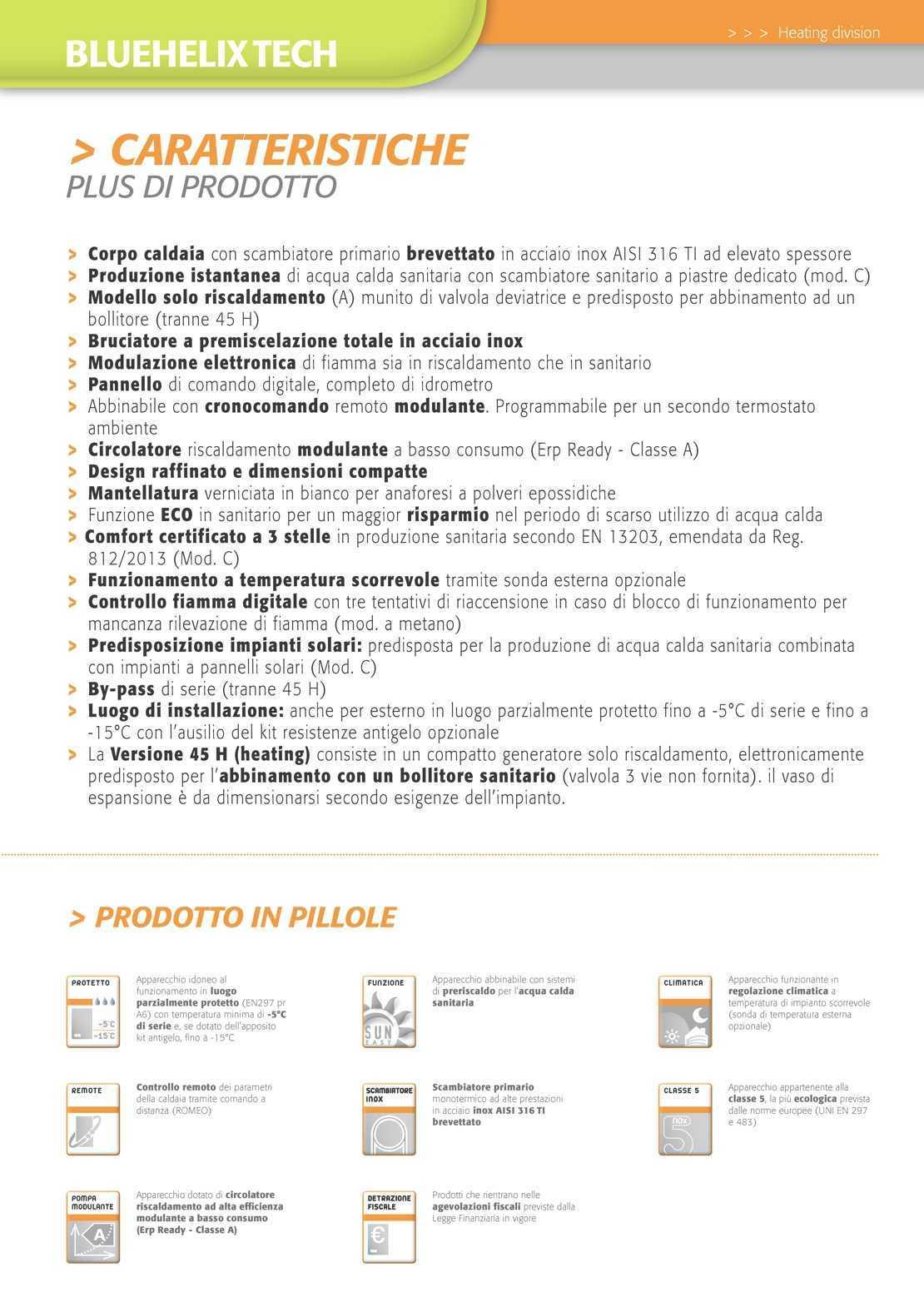 Caldaia Ferroli Bluehelix Tech erp
