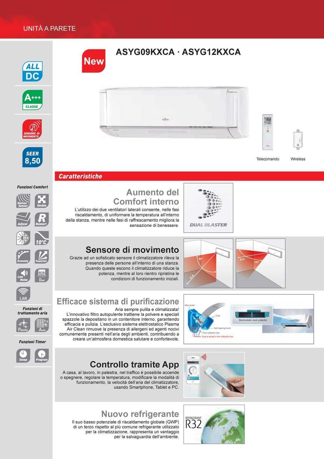 Fujitsu Climatizzatore Nocria X