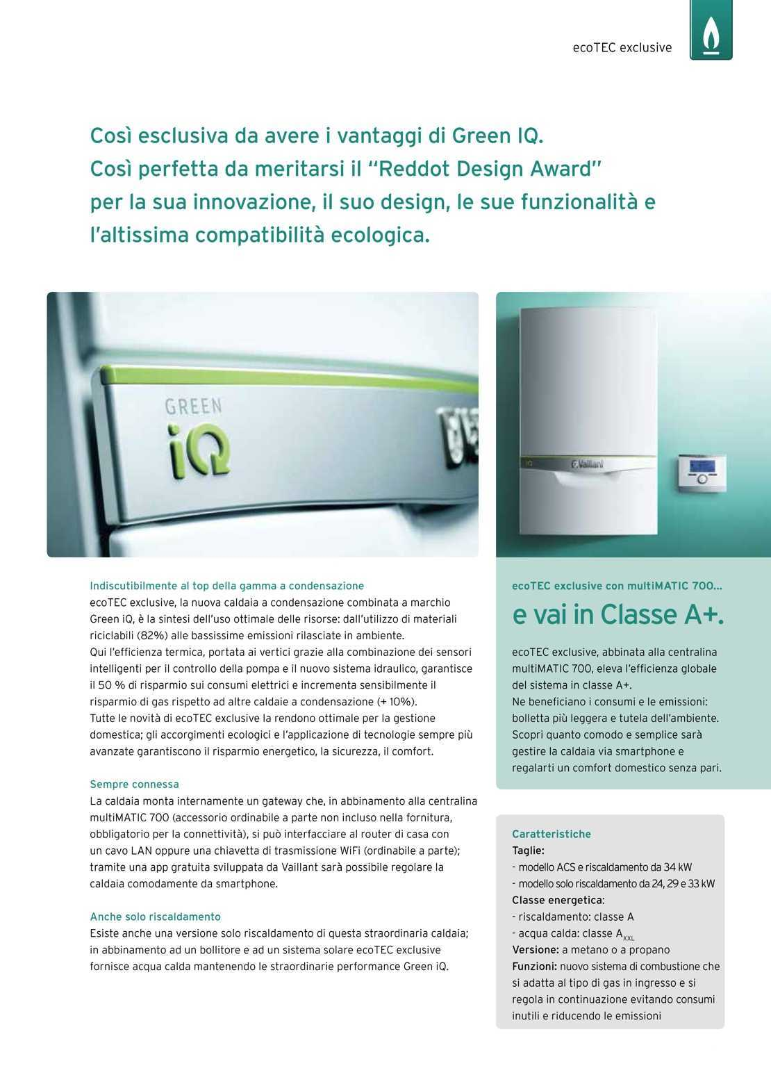 Vaillant Caldaia ecoTEC exclusive VMW356