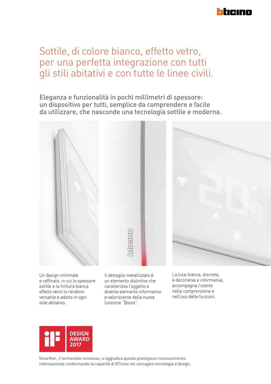 Bticino termostato x8000 smarther incasso wifi app per - Smarther bticino ...